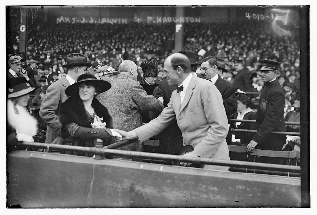 [Wife of Red Sox owner, J.J. Lannin & Percy Haughton, pres. of Boston Braves (baseball)] (LOC)