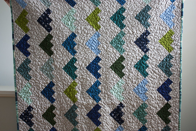 Christina's log cabin baby quilt