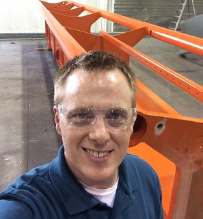 VP Eric's selfie at Clermont Steel