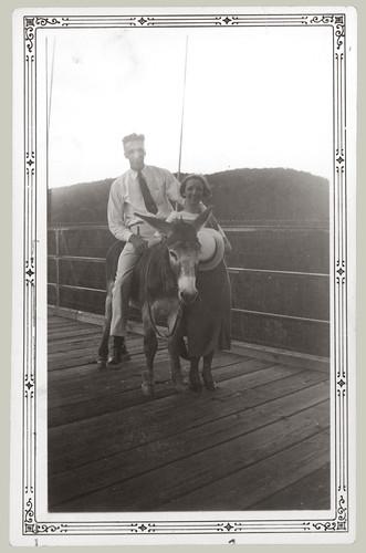 Man Woman Donkey