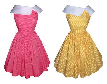 Polka dot retro dress