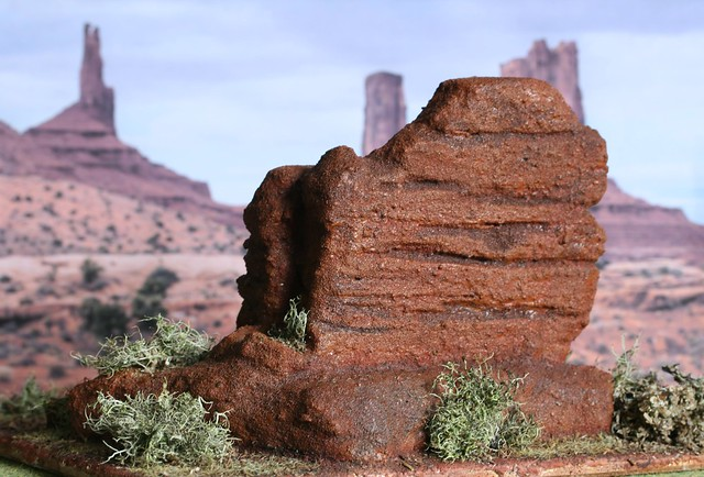 Stablemate Scale Desert Diorama