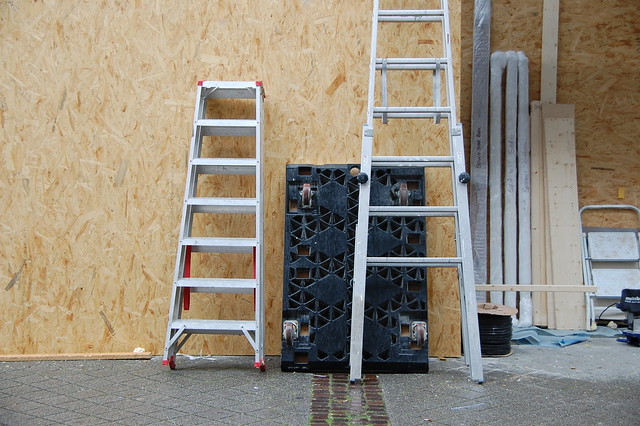 ladders, construction site