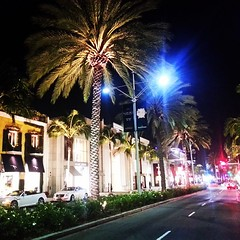 Rodeo Drive in Beverly Hills at night. @latours