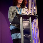 Maggie O Farrell on stage at the Edinburgh International Book Festival |