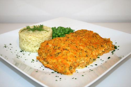50 - Kabeljau mit Kürbishaube - Seitenansicht / Codfish with pumpkin cover - Side view