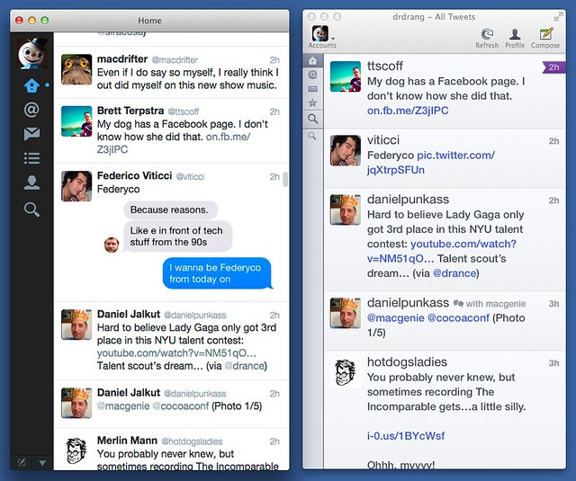 Twitter and Twitterrific