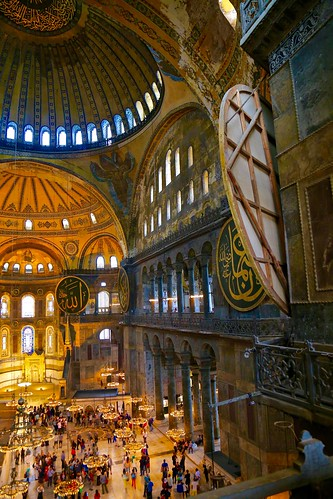 view from the upper level of Hagia Sophia