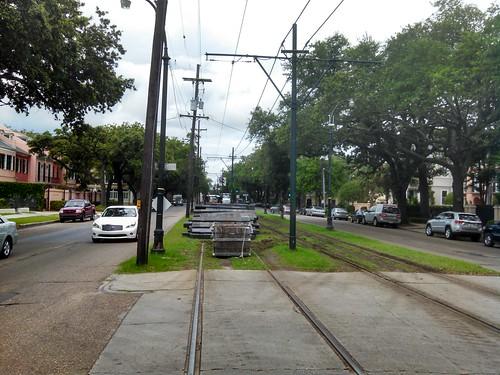 Rail ties uptown
