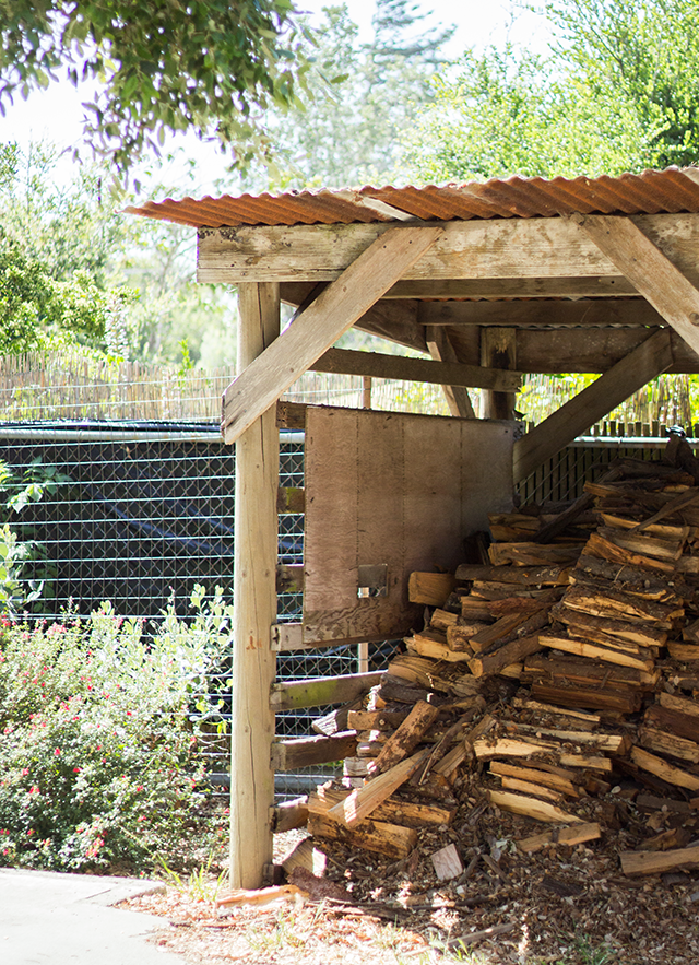 woodshed in the backyard