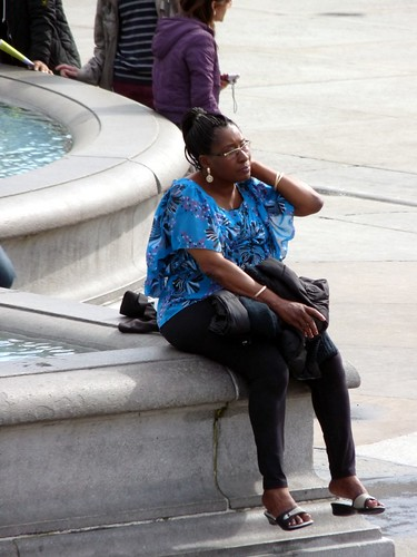 Resting by the fountain