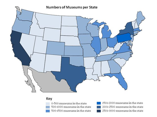 Number of Museums in the State