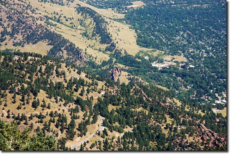 Overlooking Flagstaff Mt. from Green's summit