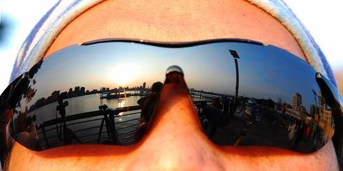 sunset reflection isee