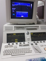 High-tech medical equipment used today. It has SVHS, trackball, and floppy drive.