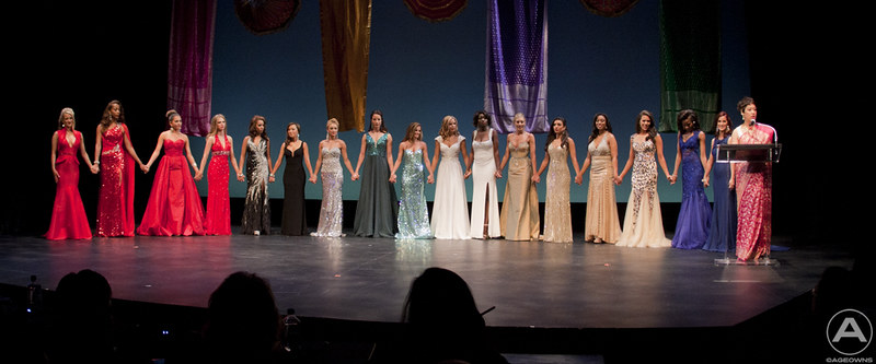 The 2014 Miss DC Contestants wait for final tally