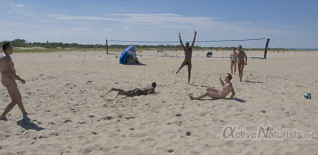 naturist volleyball 0007 Sandy Hook, NJ, USA