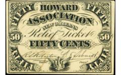 Howard Association relief ticket