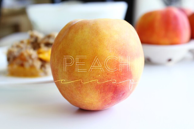 {recipe} fresh peach crisp