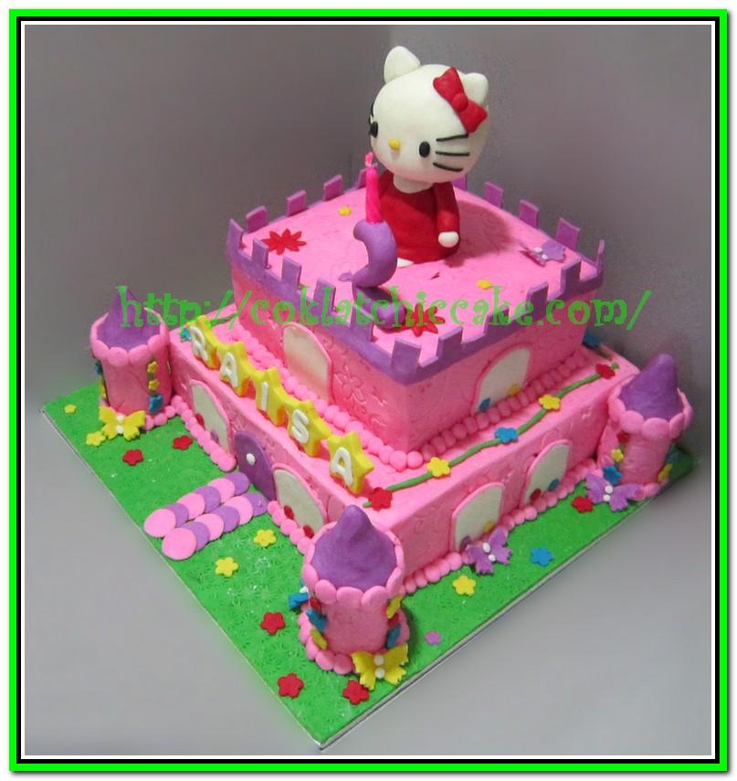 Kue Ulang Tahun Castle Hello Kitty Raisa Coklatchic Cake