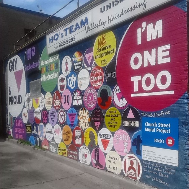 Pin button pride in the Village #toronto #worldpride #churchandwellesley #pinbuttonpride