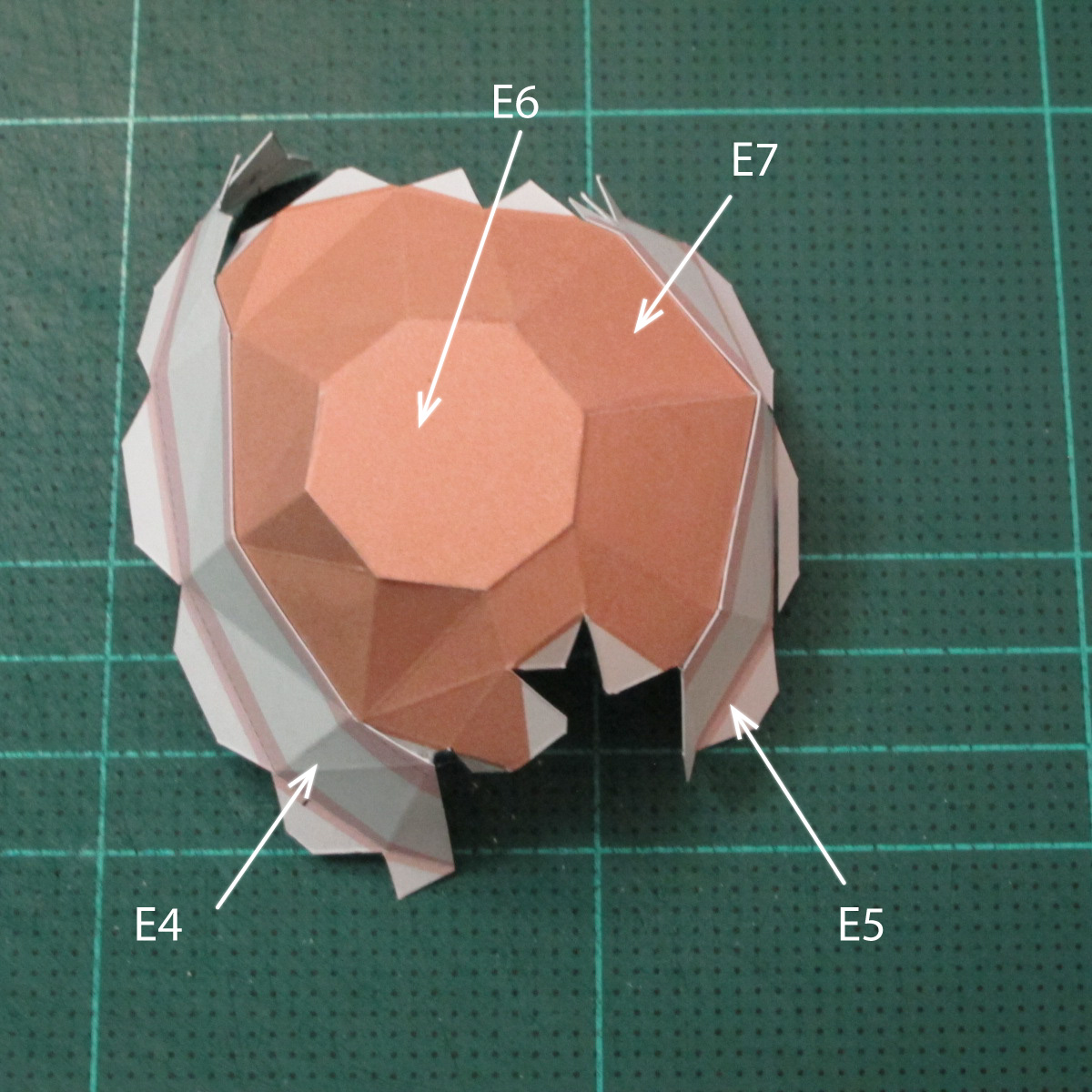 วิธีทำโมเดลกระดาษตุ้กตาคุกกี้รัน คุกกี้รสจิ้งจอกเก้าหาง (Cookie Run Nine Tails Cookie Papercraft Model) 014