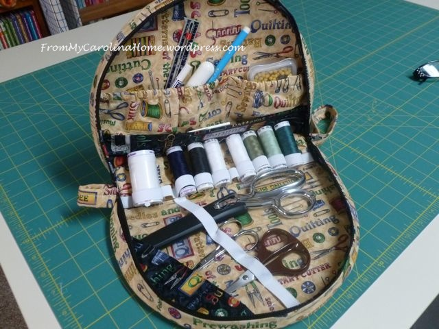 sewing kit filled