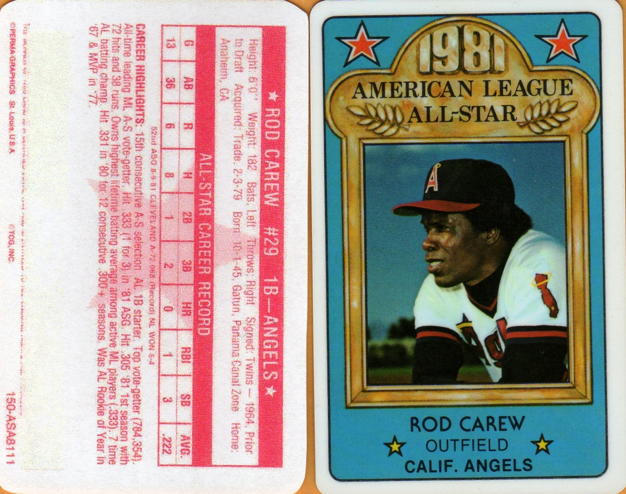 1981 Perma Graphic All-Star Credit Card