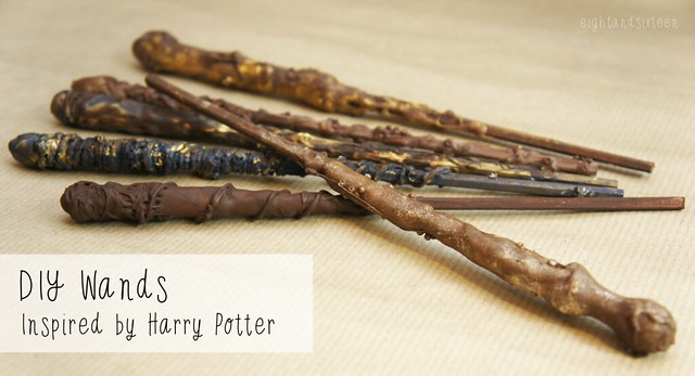 wands diy tutorial harry potter inspired crafts