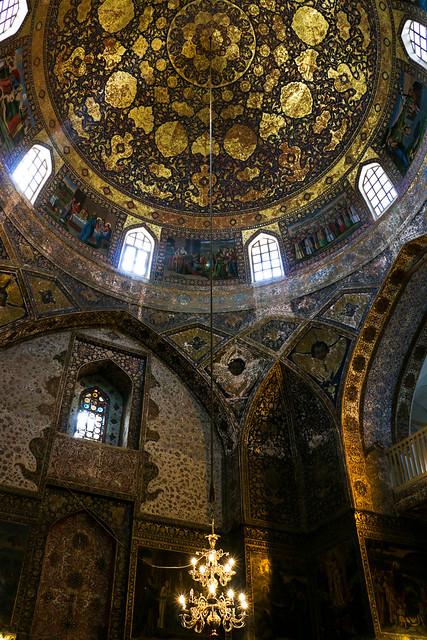 Interior decorations of Bedkhem Church, Isfahan, Iran イスファハン、ベツレヘム教会内部の装飾
