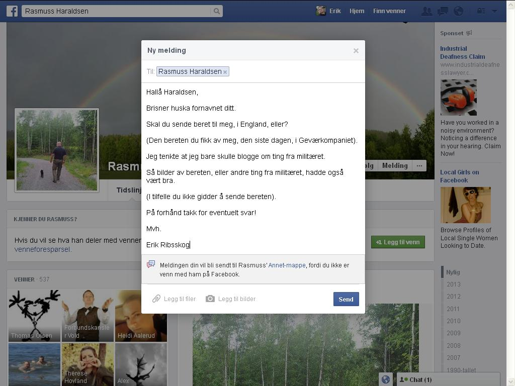 haraldsen facebook