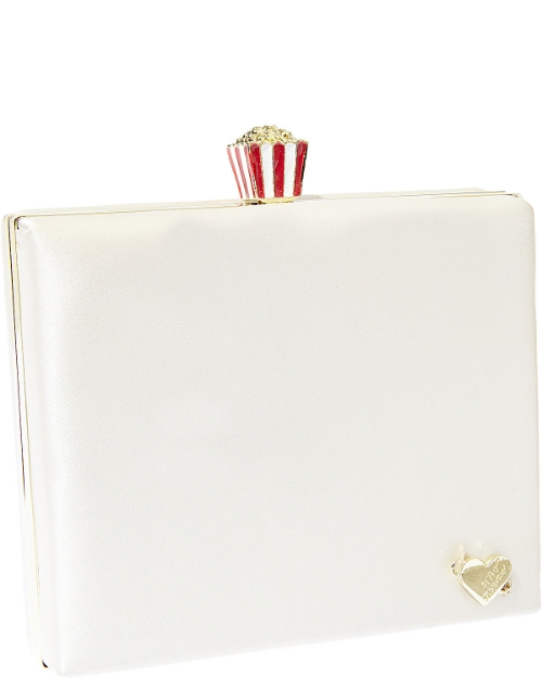 Betsey Johnson CHARM POPCORN TOPPER EVENING CLUTCH