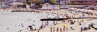 Image of サンビーチ. sea color beach japan shizuoka izu atami ビーチ 砂浜 colorprocess 海水浴場 atamicity atamisunbeach twittercover