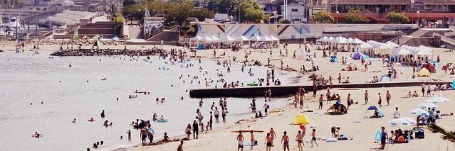 Atami Sun Beach in Atami City, Shizuoka, Japan