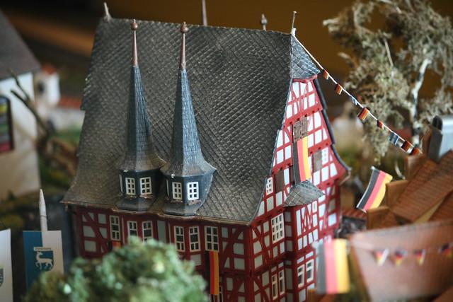 geschmücktes Rathaus