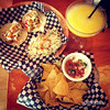 2 Baja tacos, Salsa & Chips and mango margarita in West End Vancouver BC