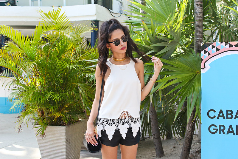 Miami fashion blogger, Joselin Reyes, Style Stalker top, Daily Look, MBFWSWIM 2014, swim week 2014, gorjana nordstrom mika necklace, french connection