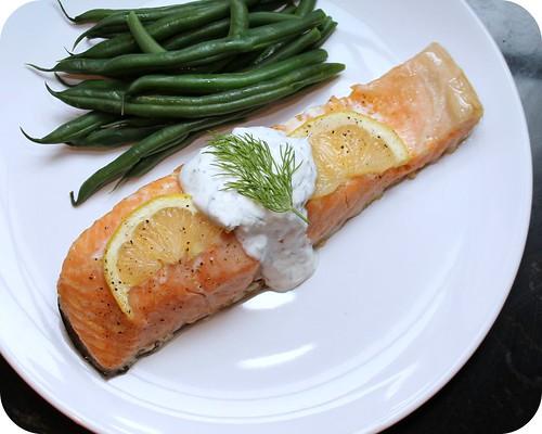 Salmon with Dill Horseradish Sauce