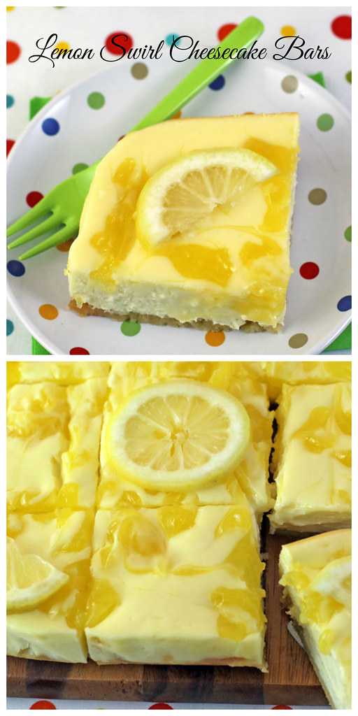 Lemon Swirl Cheesecake Bars