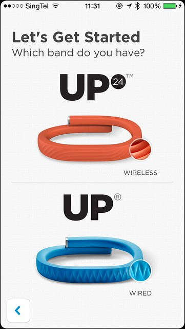 Jawbone UP iOS App - Setup Step 1