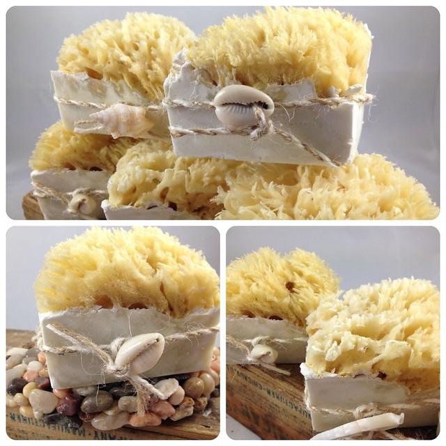 Sea sponge soaps by The Daily Scrub