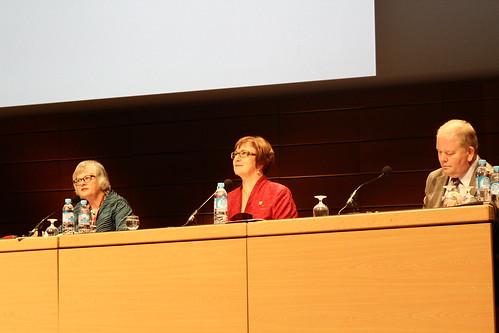 Jennefer Nicholson, Sinikka Sipilä, Martyn Wade - Assemblée générale IFLA 2014