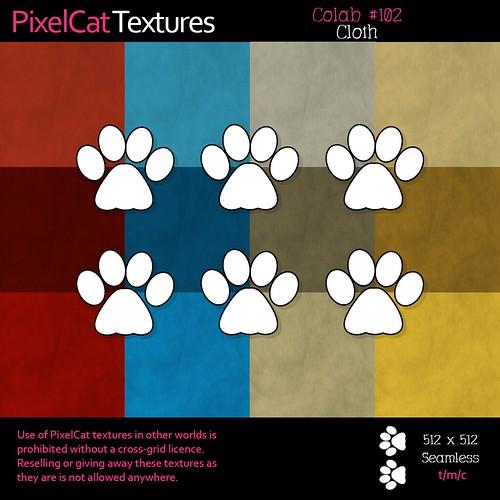 PixelCat Textures - Colab 102 - Cloth