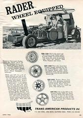 1966 Rader Wheel Advertisement Hot Rod April 1966