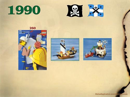 LEGO Pirates Timeline 1990