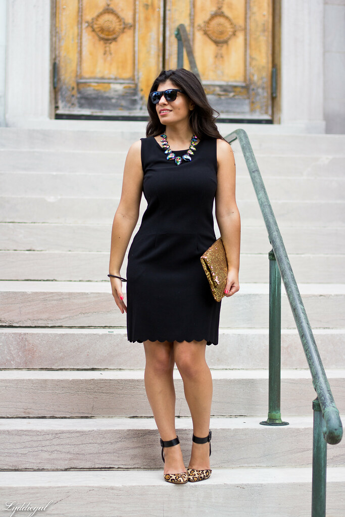 Scalloped Hem Dress, Leopard Pumps, Hello Cheeseburger Necklace-4.jpg