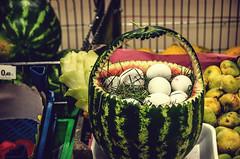 Watermelon egg basket