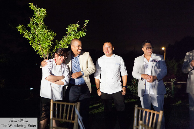 The chefs honored for the evening