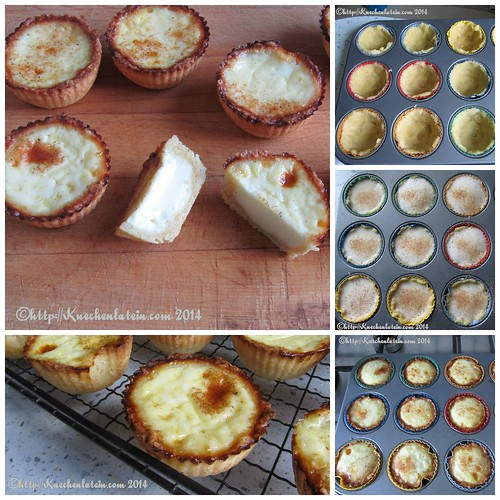 Egg Custard Tarts - Eierpudding-Törtchen  Collage