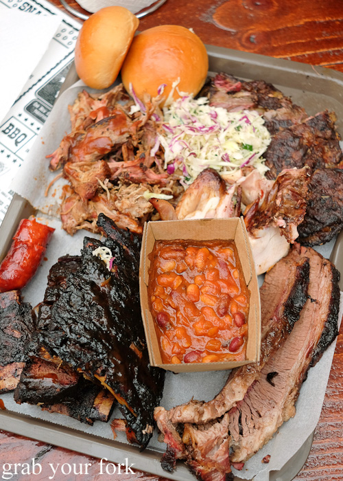 Barbecue meat tray at the Oxford Tavern, Petersham